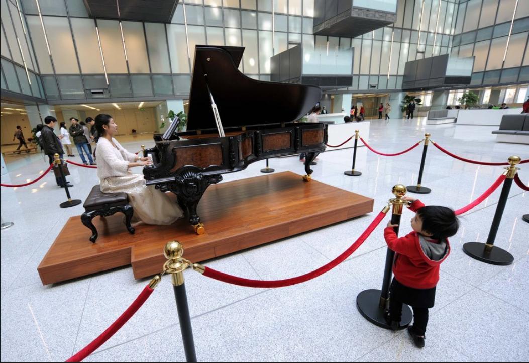 南京一医院似星级酒店:配钢琴咖啡厅 楼顶建停机坪