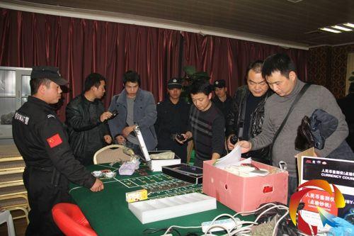 第一小组参战民警40人在凯峰建材市场赌博窝点抓获开设赌场人员4名,参