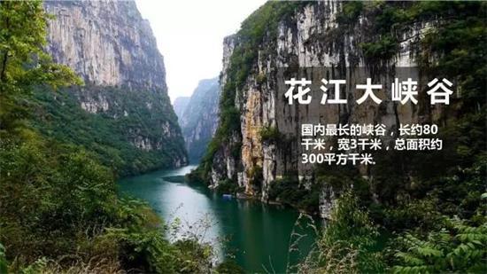 花江大峡谷险峻雄奇,风景秀丽,坝陵河大桥横跨天堑,飞渡云霄,壮美