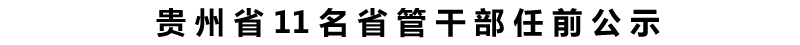 贵州省11名省管干部任前公示