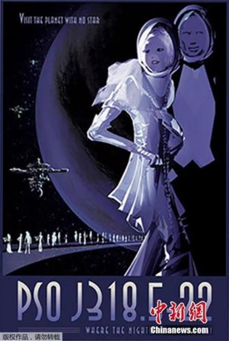 太空旅游复古海报