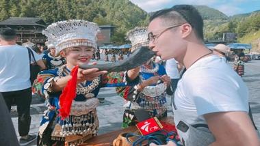 粤港澳台百家媒体走进西江 感受苗族非遗文化