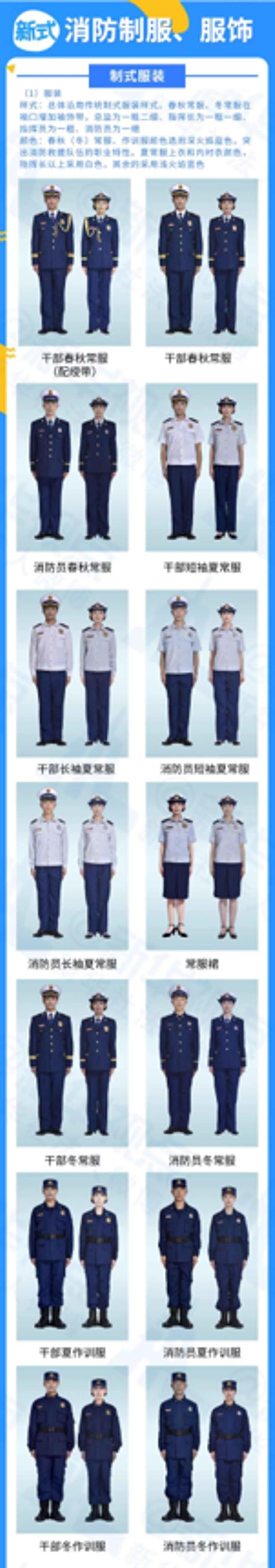 新式消防制服、服饰来了!