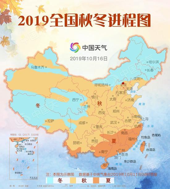 全国秋冬进程图出炉:贵州大部地区已入秋