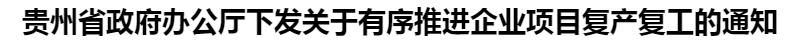 貴州省政府辦公(gong)廳(ting)下(xia)發關于有(you)序(xu)推進企業項目復(fu)產復(fu)工(gong)的(de)通知(zhi)
